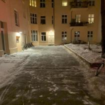 Winterdienst in der Immanuelkirchstr. 1